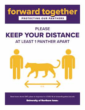 Panther Distancing sign