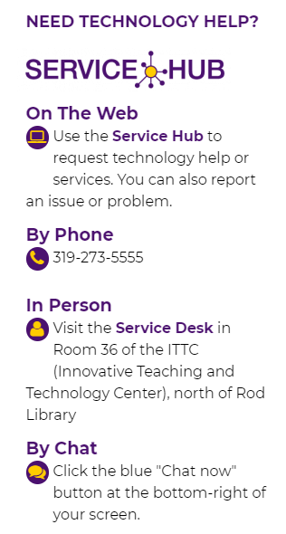 How to access Service Hub